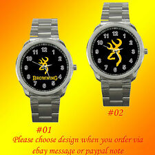 Browning Shotguns Rifles Pistols Firearms Fishing Rod Metal Sport Watch No Shirt