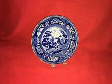 Historical Staffordshire Dark Blue Plate Scaleby Castle Cumberland Ca. 1825