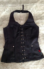 vintage gothic black HOT TOPIC Tripp NYC corset tank top bustier vest goth