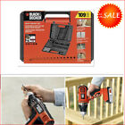 109pc Black Decker Drill Bit For Wood Metal Plastic Masonry Power Tool Accessory