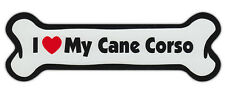 Dog Bone Shaped Car Magnets: I LOVE MY CANE CORSO
