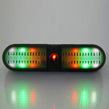 Portable Wireless Bluetooth LED FM Stereo Speaker For Smartphone Laptop Black