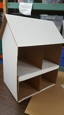 Cardboard Dollhouse Craft Project Kit HOUSE/WINDOWS Only Ultra Basic