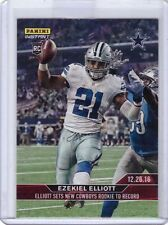 2016 Panini Instant NFL #424 Ezekiel Elliott Rookie Card - Sets Cowboys Record!