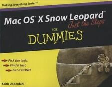 Mac OS X Snow Leopard Just the Steps For Dummies (For Dummies (Compute-ExLibrary