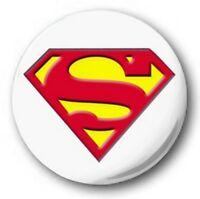 SUPERMAN LOGO - 1 inch / 25mm Button Badge - DC Comics White