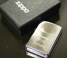 Personalised Genuine Zippo lighter. Engraved Free