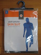 2nd skin spandex adult stretch BLUE FULL BODY SUIT hood jumpsuit unitard Size M