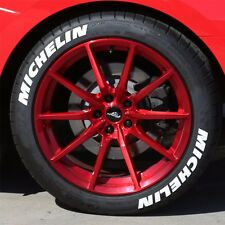 "TIRE LETTERS - MICHELIN - 1.25"" For  17"" and 18"" Wheels (4 decals)"