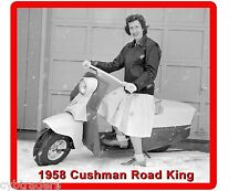 Cushman Motor Scooter Road King 1958  Refrigerator / Tool Box Magnet Man Cave