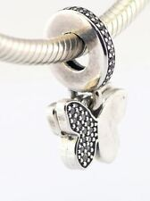 DANGLE CZ BUTTERFLY .925 Sterling Silver European Charm Bead - SPR2
