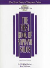 First Book of Soprano Solos Sing Vocal Choral Voice Piano Music Book & CD