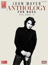 John Mayer Anothology Volume 1 Bass Guitar TAB Learn to Play Music Book