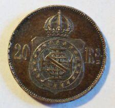 Brazil/Brasil - 20 arroz - 1869-Pedro II. - ss-vz/vf/XF