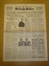 MELODY MAKER 1935 JUL 6 AMBROSE MILLS BROTHERS IRVING MILLS BIG BAND SWING