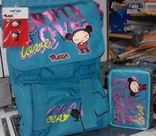 Schoolpack PUCCA Seven - zaino estensibile + ast 3 zip col. azzurro + magneti