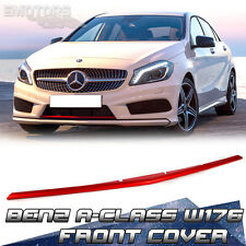 Painted Red Metal Front Lip Spoiler Cover Mercedes BENZ A-Class W176 Hatchback