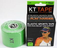 KT Tape Therapeutic Elastic Body Sports Tape Roll of 20 Strips - Cotton - LIME