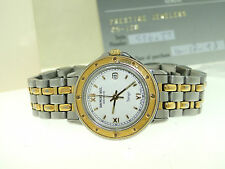 RAYMOND WEIL GENEVE 5360 TWO-TONE STAINLESS TANGO WATCH W/BOX & PAPERS