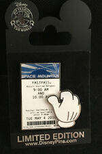 Disney Space Mountain FASTPASS 2010 Pin, Limitd Edition 750