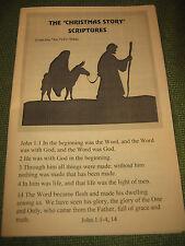 BOOKLET The Christmas Story Scriptures - 84 NIV Bible New International LG Ec 25