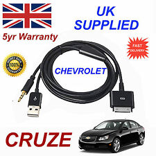 CHEVROLET CRUZE OX0467904 3GS 4 4S iPhone iPod USB & Aux Audio Cable black