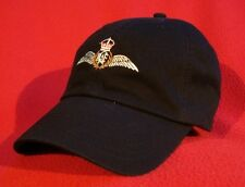 Royal Canadian Air Force Pilot Wings Ball Cap low-profile embroidered BLACK hat