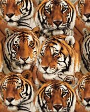 Exclusively Quilters Tigers 3814 8445 9 Packed Tigers BTY Cotton Fabric