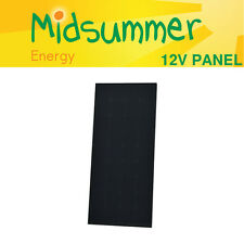 12V 120W Midsummer All Black Mono Solar PV panel with Sunpower Cells