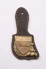 Hungary Hungarian Land Force Conscript Fob Badge Medal Brass Leather Army Honved