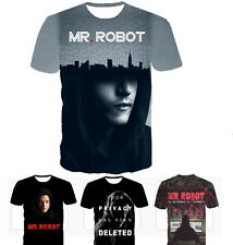"► ""MR ROBOT T-SHIRT+"" 7model,all size! F*SOCIETY, 3Dprint, TV Series (Anonymous)"