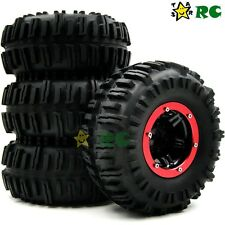 4pcs New RC air system Crawler Tires 130mm & 2.2 Beadlock Wheels For Axial RC4WD