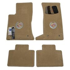 2005 - 2011 Cadillac STS AWD Floor Mats - Cashmere - Silver Crest Logos - USA