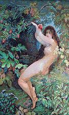 Ève et la pomme Panneau décoratif tapisserie Ève et fruit défendu panneau déco
