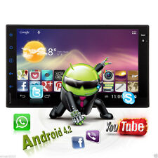 """Android OS Quad Core 2Din Stereo 7""""Car DVD player GPS Radio BT/3G/Wifi+Free ship"""