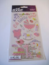 Scrapbooking Crafts Stickers Sticko Oh Little Girl Baby Daddy's Bottle Buggy +++