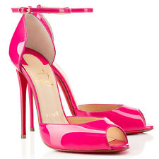 """Authentic Christian Louboutin """"GARDNERA"""" Pinky Patent Leather Pumps IT38.5 $995"""