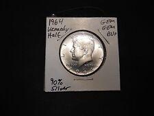 1964 Kennedy Half Dollar GEM GEM BU+ 90% SILVER!!!