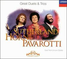 SUTHERLAND HORNE PAVAROTTI Live from Lincoln Center (CD, Mar-1998, London)