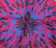 Tapis rond en laine couleurs électriques vers 1970 Style Panton