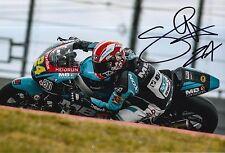 Simone Corsi Hand Signed 12x8 Photo Speed Up Racing 2016 Moto2 MOTOGP 5.
