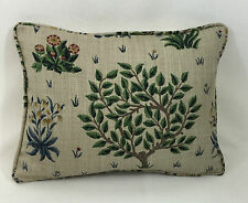 "William Morris- Orchard - Forest Indigo Cushion Cover - 16"" x 12"" Self Piped"