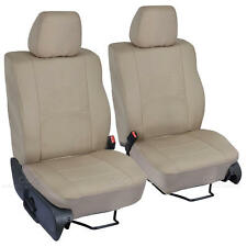 2pc Single Buckets - Tan Beige Cloth Custom Seat Covers for Ford F-150 2004-08