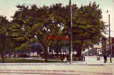 THE PARK LOOKING NORTH FROM STATE STREET, MASON CITY, IA. 1910