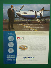 2001-2 PUB AVION PILATUS PC-12 SWISS AIRCRAFT FLUGZEUG AHRENKIEL GROUP GERMAN AD