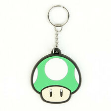 Official Nintendo 1Up MUSHROOM KEYCHAIN Mens Rubber Car Keyring FUNNY Mario 1 UP