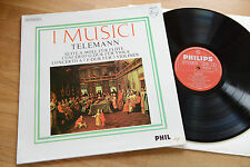 Telemann I MUSICI Concertos AYO Philips stereo LP 802 864 DXY nm