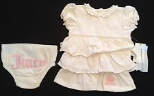 JUICY BABY DRESS AND PANTS CREAM 3-6 MONTHS RRP £60 NOW £22.50