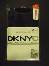 DKNYC (Donna Karan New York City) Black Opaque Tights-2 pair-Size Tall