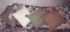 Machine Knit pattern by Maggie Andrews. Comfy cosy cushions.
